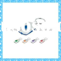 DKMK1303 promotion gift colorful plastic button LED key chain