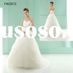 FW2872 2012 Strapless Floor Length Tulle Sweetheart Bridal Gown