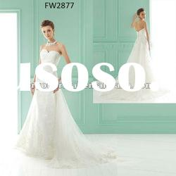 FW2877 Strapless Floor Length Lace Wedding Dress 2012