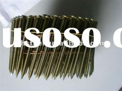 Flat head coil roofing nails