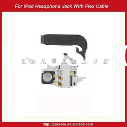 For iPad Audio Headphone Jack With Flex Cable Replacement
