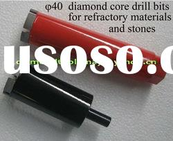 Laser Welded Diamond Core Drill Bit for stone dry drilling
