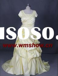 Latest Beautiful Ball Gown Short Sleeve Vintage Prom Dresses
