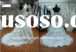 Layers Organza, Nice Design, Long-train with Wedding Dress