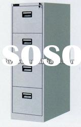 Metal vertical knock down office 4-drawer filing cabinet furniture