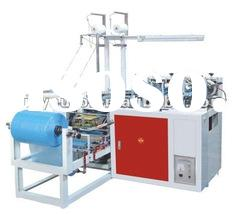 Plastic Flat & Round Rubber Band Shoe Cover Machine