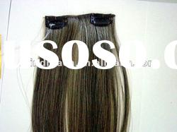 "Top quality 14"" silk straight Indian remy human hair clip in hair extension"