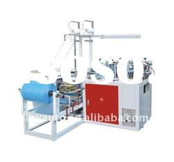 Useful for Medical and Food Industry Plastic PE-CPE Round Rubber Band Shoe Cover Machine