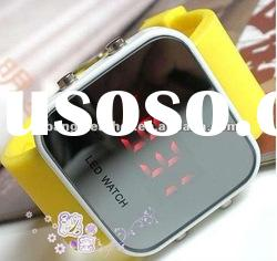 Wholesale Christmas Gift Cheap Silicone Mirror LED Watch