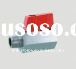 brass mini ball valve aluminum handle MF