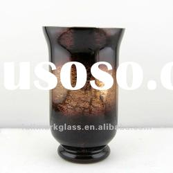 brown shadow mercury hurrican glass candle holder