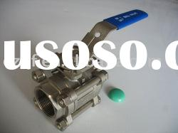 china qunfeng high quality 3pc stainless stell ball valve
