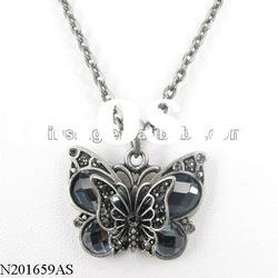 crystal pendant fashion butterfly shape necklace