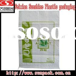 flexo printing PP woven bags for 25kgs sugar packaging