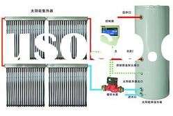 heat pipe seperated solar water heater system