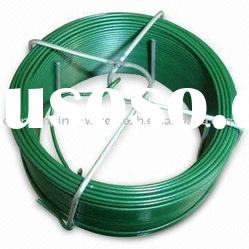 high quality PVC coated wire green