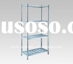 stacking multi level racks and shelves for small or middel size cold storage