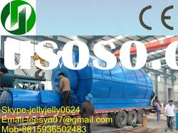 2012Hot Leesyn 5/6/8/10T pollution-free high oil-yield waste tire/plastic fuel oil recycling plant