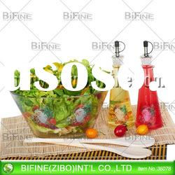 2012 hot glass salad bowl set with decal