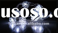 20 LEDs White snowflake Battery Operated LED Fairy Lights string, Christmas decorative LEd light