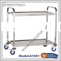 2 Tier Stainless Steel Dish Storage Trolley