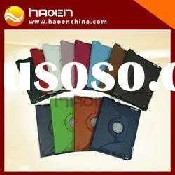360 rotating leather case for new ipad 3 case