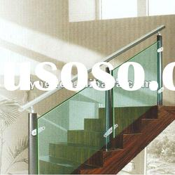 3-19mm Clear Toughened glass stair handrails