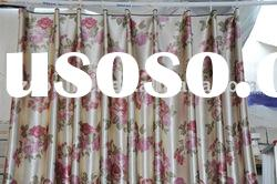 3 pass polyester printed curtain blackout fabric