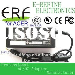 65w Laptop ac power charger/adapter for Acer 19v 3.42a