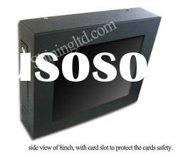 8 inch touch screen advertising player indoor