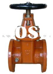 AWWA Resilient seated NRS Flanged ends gate valve with handwheel