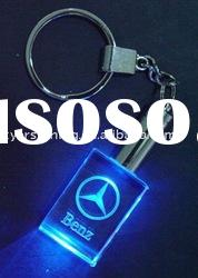 Beautiful 3D Laser Crystal Keychain Promotional Gift