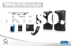 CAPDASE leather case for Sony Ericsson Sation U1