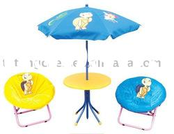 Children furniture set - cartoon table and moon chair