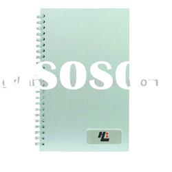 Concise and elegant metal cover A4 spiral notebook