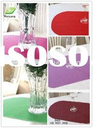Custom-made Size Color Eco-friendly PVC cup/place mats