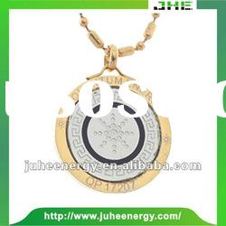 Fashion Design stainless steel scalar energy quantum pendant with deer figure JHE00022