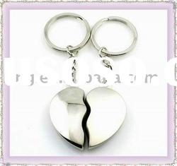 Fashion metal lover key ring zinc alloy chain