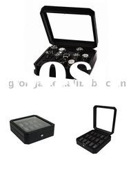 Faux leather watch box,watches case display D03-027