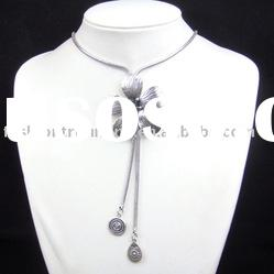 Flower antique silver necklace jewelry