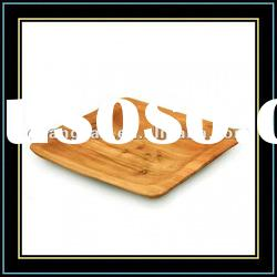 Hand Carved Root Wood Square / Round / Oval Plates