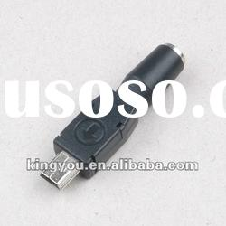 High quality! mini usb to 3.5mm DC female connector