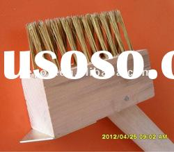 High quality natural handle wooden steel deck brush,polishing brush,wire brush,weed brush