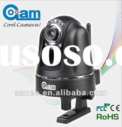 Indoor mini WIFI wireless dome IP camera mobilephone support
