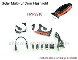 LED Solar Flashlight rechargeable for mobile