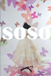 OL56301Real Sample Cute Organza Beads Flowers One Shoulder Beads Sleeveless Flower Gil Dress