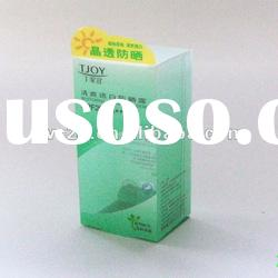 PET fashion plastic cosmetic promotional clolrized packaging box
