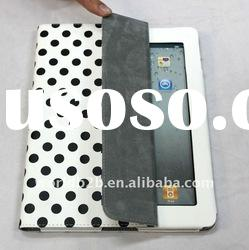 Popular Spot design Leather case for Ipad 3, 2