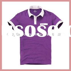 Purple fashion short sleeves polo shirt for men