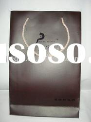 SJ-200 Luxury T-shirt bags made of ivory paper with embossed Logo FOR clothes